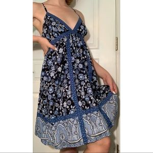 Blue Flowered Sundress